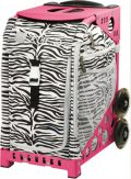 Zuca Zebra Skate bag with pink frame